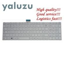 "YALUZU חדש בארה""ב מקלדת עבור toshiba לווין L850D P850 L855 L855D L870 L870D C850 C855 C855D ארה""ב לבן מחשב נייד מקלדת NSK TVBSU"