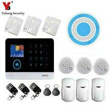 YoBang Security 3G WCDMA/CDMA Wireless WIFI Home Office Security Alarm System Strobe Siren+Smoke Detector Alarm Flash Sensor.