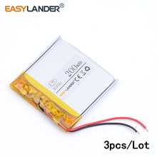 3pcs /Lot 303030 200mah three.7v lithium Li ion polymer rechargeable battery For MP3 Bluetooth Headset 3D glasses Sensible watch 033030