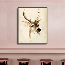 Elk Animal Natural Nordic Poster Prints Canvas Painting Calligraphy Wall Art Nursery Decorative Picture Kids Decoration
