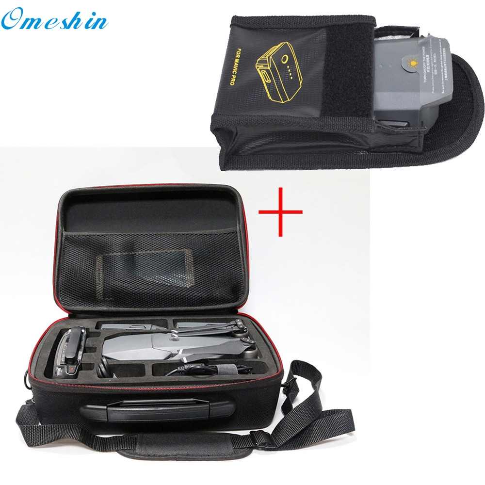OMESHIN Simplestone Waterproof Shoulder Bag Carrying Case+Lipo Battery Safe Bag Protector For DJI MAVIC Pro Drone 0318