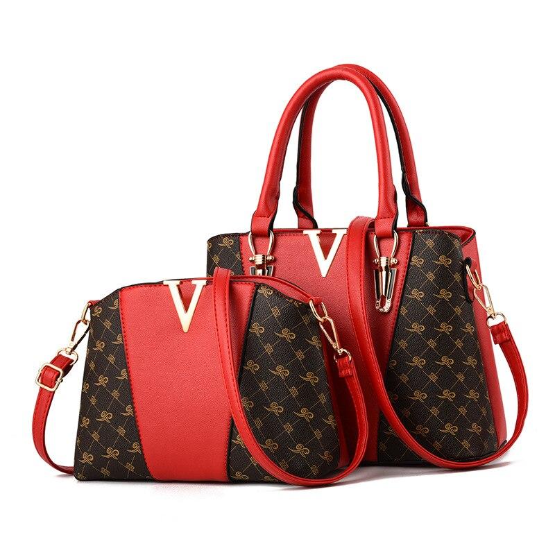 Women Bags Set 2 Pcs Leather Handbag Women Tote Bag Ladies Shoulder Bag for Women 2018 Messenger Bag Sac a Main 25