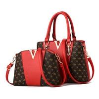 Women Bags Set 2 Pcs Leather Handbag Women Tote Bag Ladies Shoulder Bag for Women 2018 Messenger Bag Sac a Main