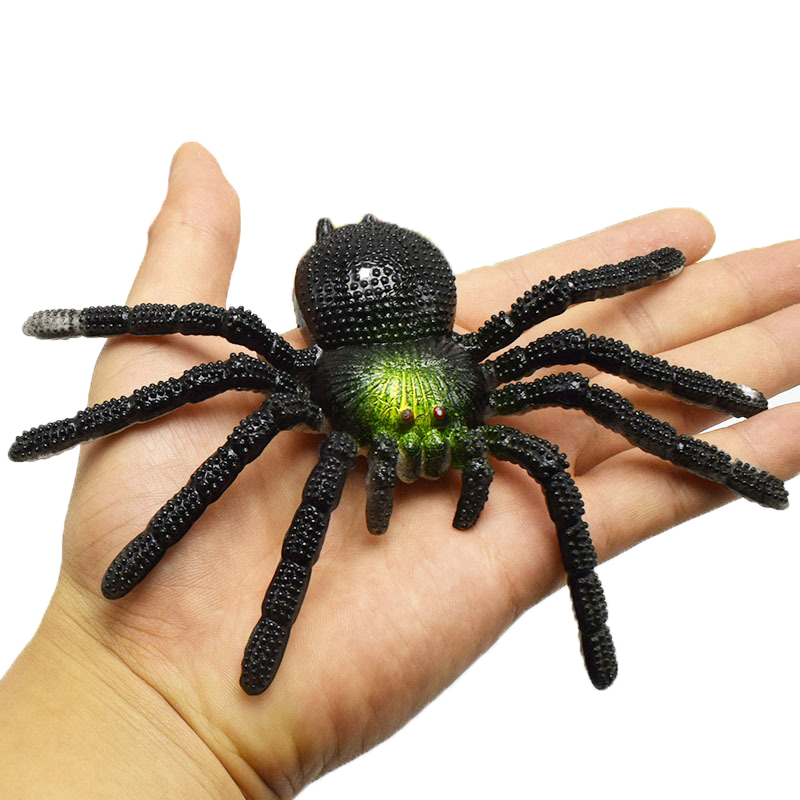Simulation Multi Color Artificial Spider Insect Scary Toy Halloween Props Insect Animal Model Prank Funny Trick Joke Toys Party