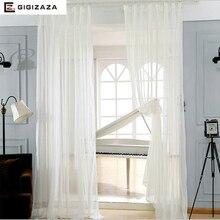 Линн белая вуаль тюль окна принцесса шторы ножницы для гостиной простыня прозрачный процесс белый бежевый нестандартного размера