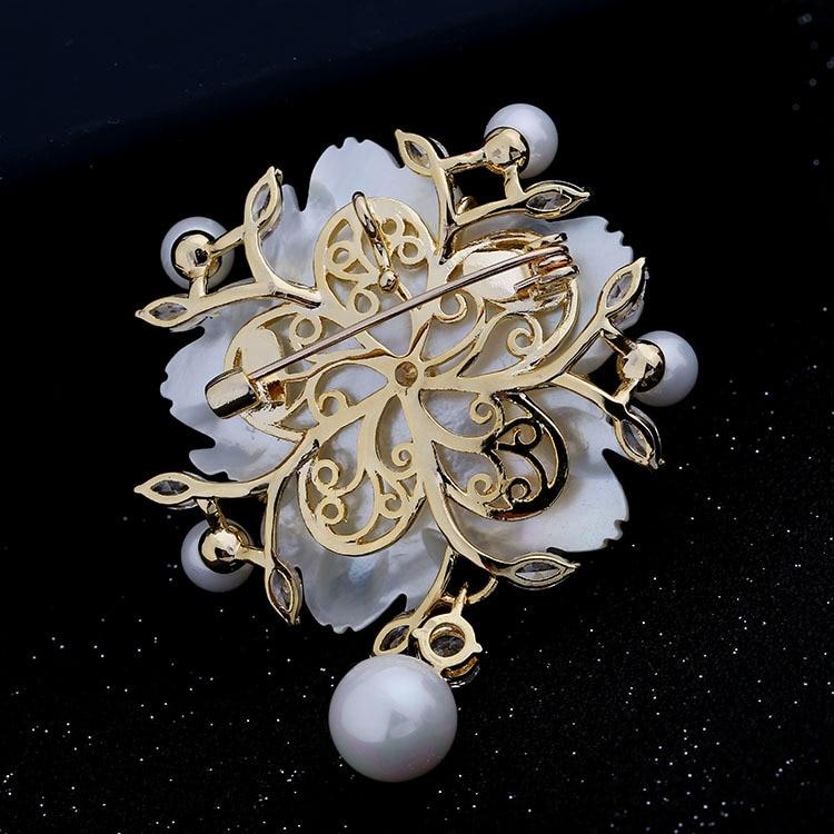Nënë mahnitëse e Vjetër e Vjetër e Nuseve të Perlave Lule Pearl - Bizhuteri të modës - Foto 6