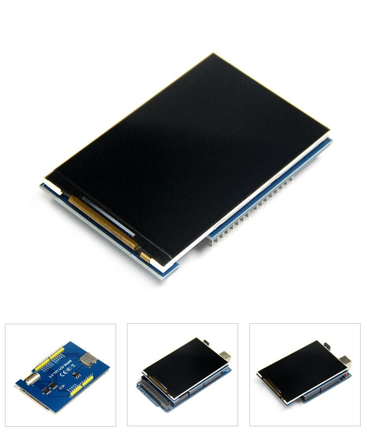 """Image 2 - Free shippping! 5pcs/lot LCD module 3.5 inch TFT LCD screen 3.5 """" for Arduino UNO R3 Board and support mega 2560 R3-in LCD Modules from Electronic Components & Supplies"""