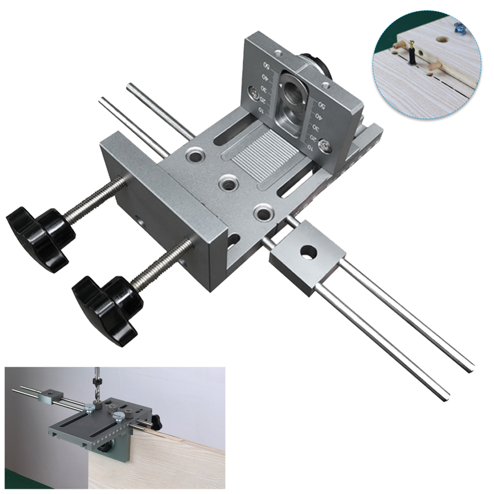 3 in 1 Drill Punch Locator Cabinet Hardware Jig Drill Guide Furniture Woodworking Joinery Drilling Dowelling