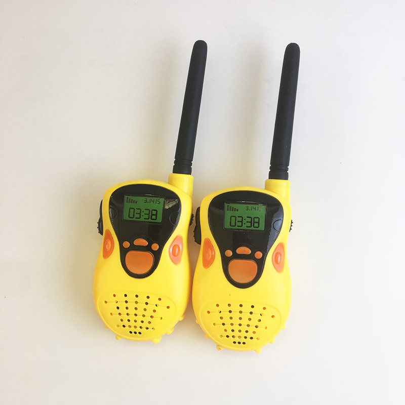 2 pcs Yellow mobile phone Walkie Talkie  Children Watch Radio Outdoor walkie talkies for  kids gift