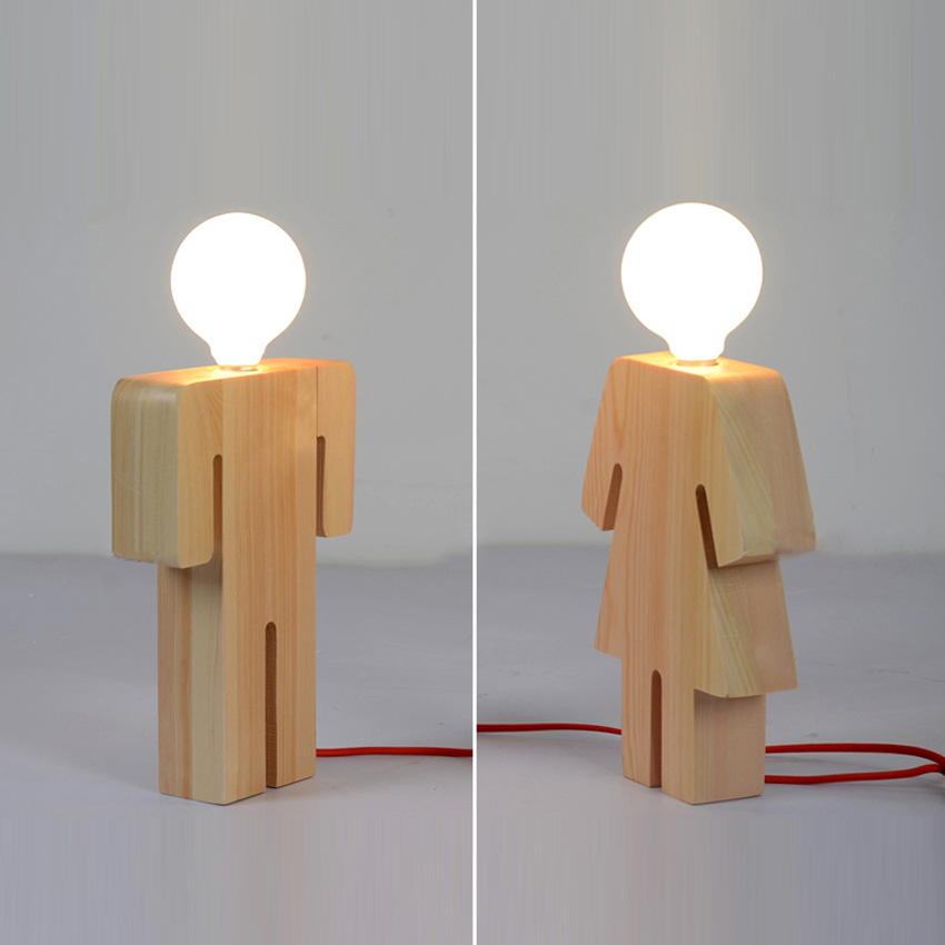Us 36 74 45 Off Modern Design Boy Girl Desk Light Wood Base 110v 220v Table Light Desk Lamp For Living Room Bedroom Home Decoration In Table Lamps