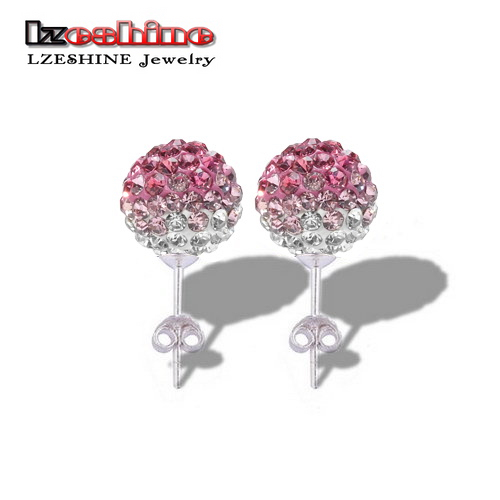 Promotion Sale Mixed AB Clay Disco Balls High Quality Gradient Colours (85Pcs)Crystal Fashion Shamballa Earrings Studs SHEDmix1