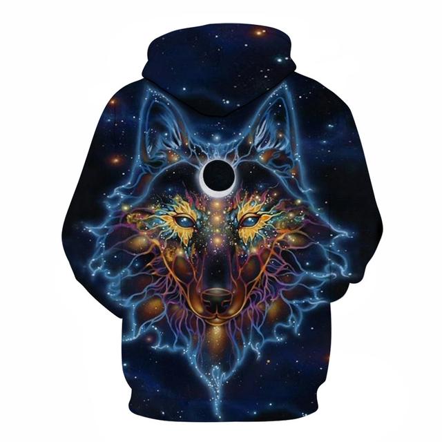 WOLF GALAXY 3D HOODIE (12 VARIAN)