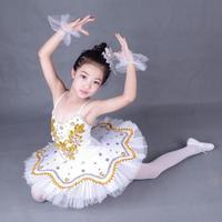 Girl Professional Ballerina Tutu Dance Dress Child Sequins White Swan Lake Tutu Costume Ballet Clothes for Kids Dress for Ballet
