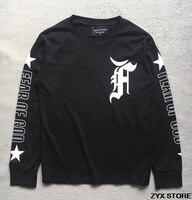 Miedo de DIOS quinta colección All Star Print mujeres hombres camiseta hiphop Kanye West ropa hombres algodón de manga larga camiseta