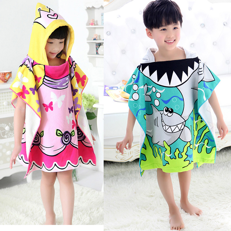 Hot Sale Baby Beach Gown Child Bathrobe Beach Towels Baby Cloak Cape Baby Bath Towel Child