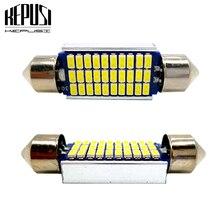 2x 31mm 36mm 39mm 41mm Festoon Canbus LED bulb C5W C10W Auto Dome Light Car Vanity Lamp license plate light Styling White