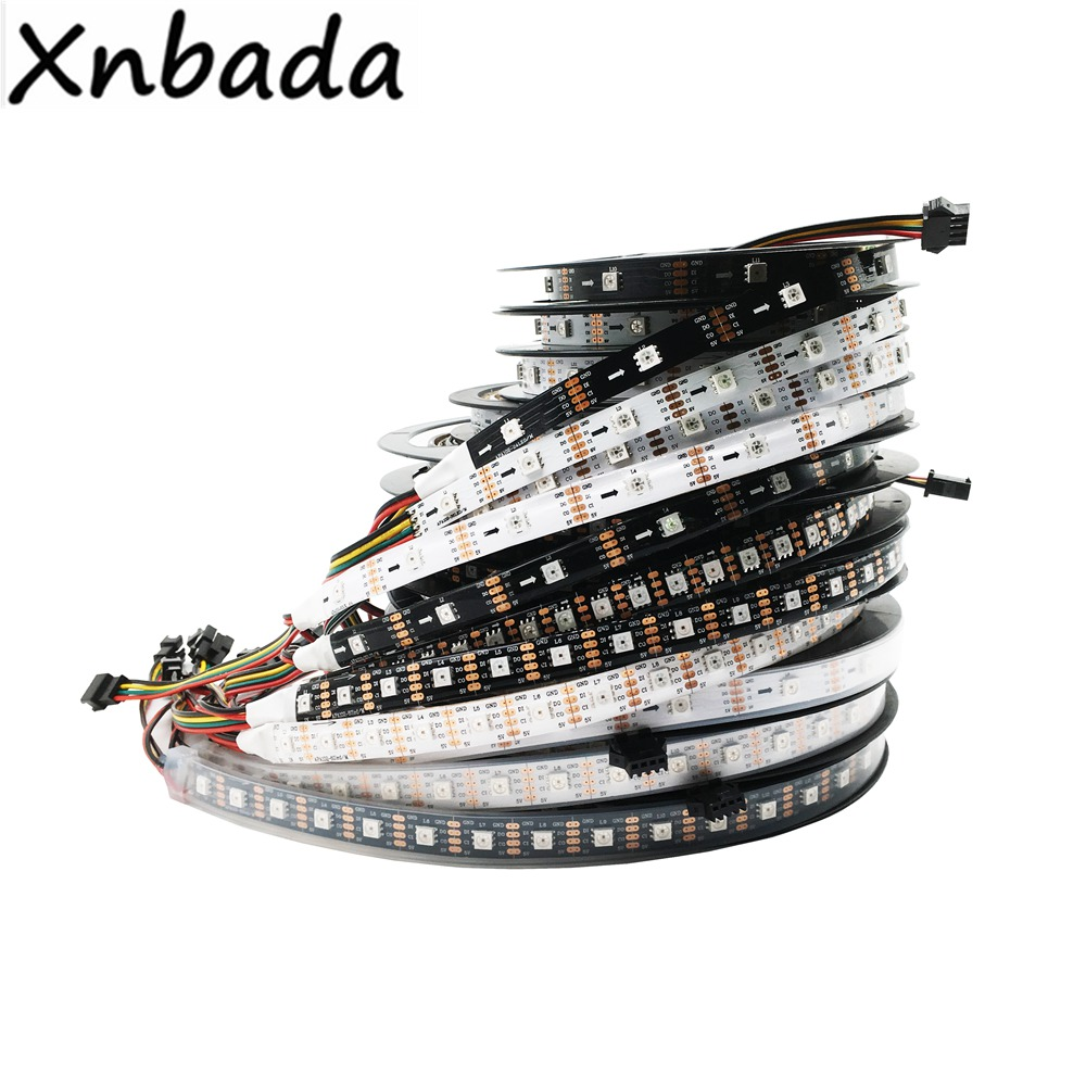 24/30/60/72/96/144 Leds/Pixels/m APA102 Smart RGB Led Pixel Strip DATA And CLOCK Seperately DC5V IP30/IP65/IP67