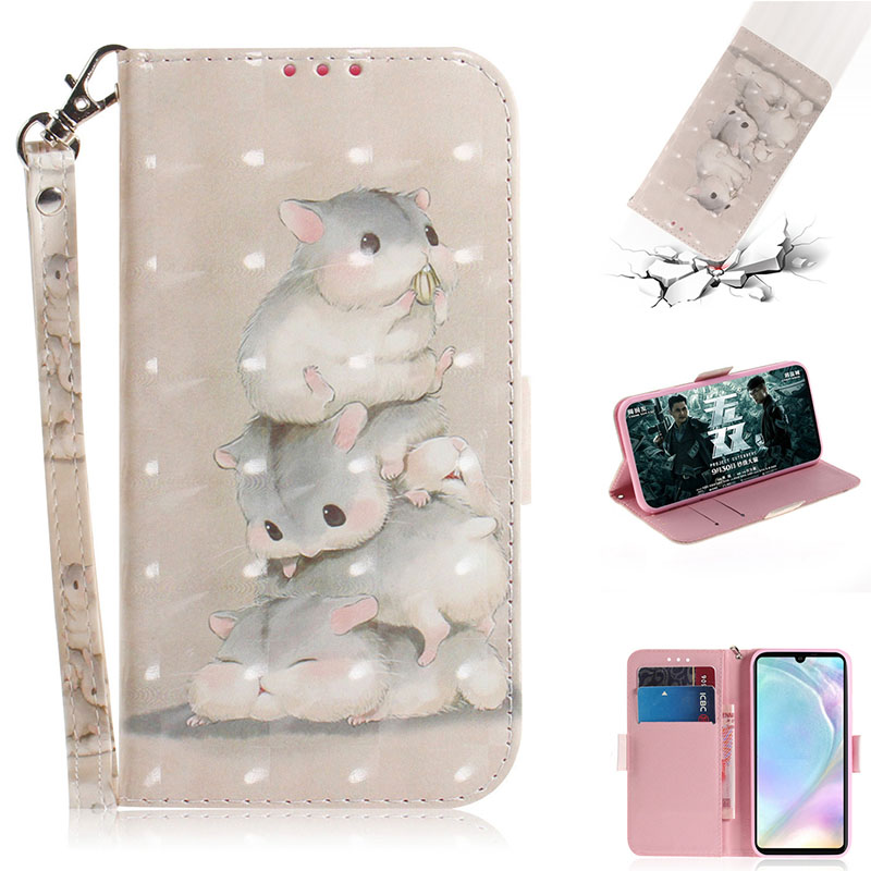 """2019 Flip for Huawei P30 TD-LTE ELE-L09 TD-LTE ELE-L29 case for Huawei Elle p30 p 30 wallet phone Cover fashion leather bag 6.1"""""""
