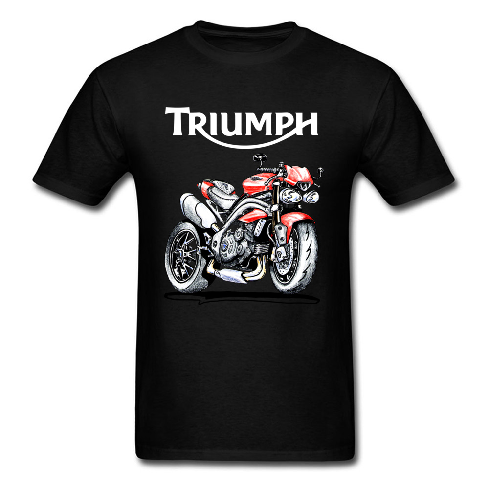 Speed Triple 1050 Triumph Motorcycle   T  -  shirt   Men Black   T     Shirt   Vintage Cafe Racer Clothing Cotton Tshirts Biker Tops Moto Tee
