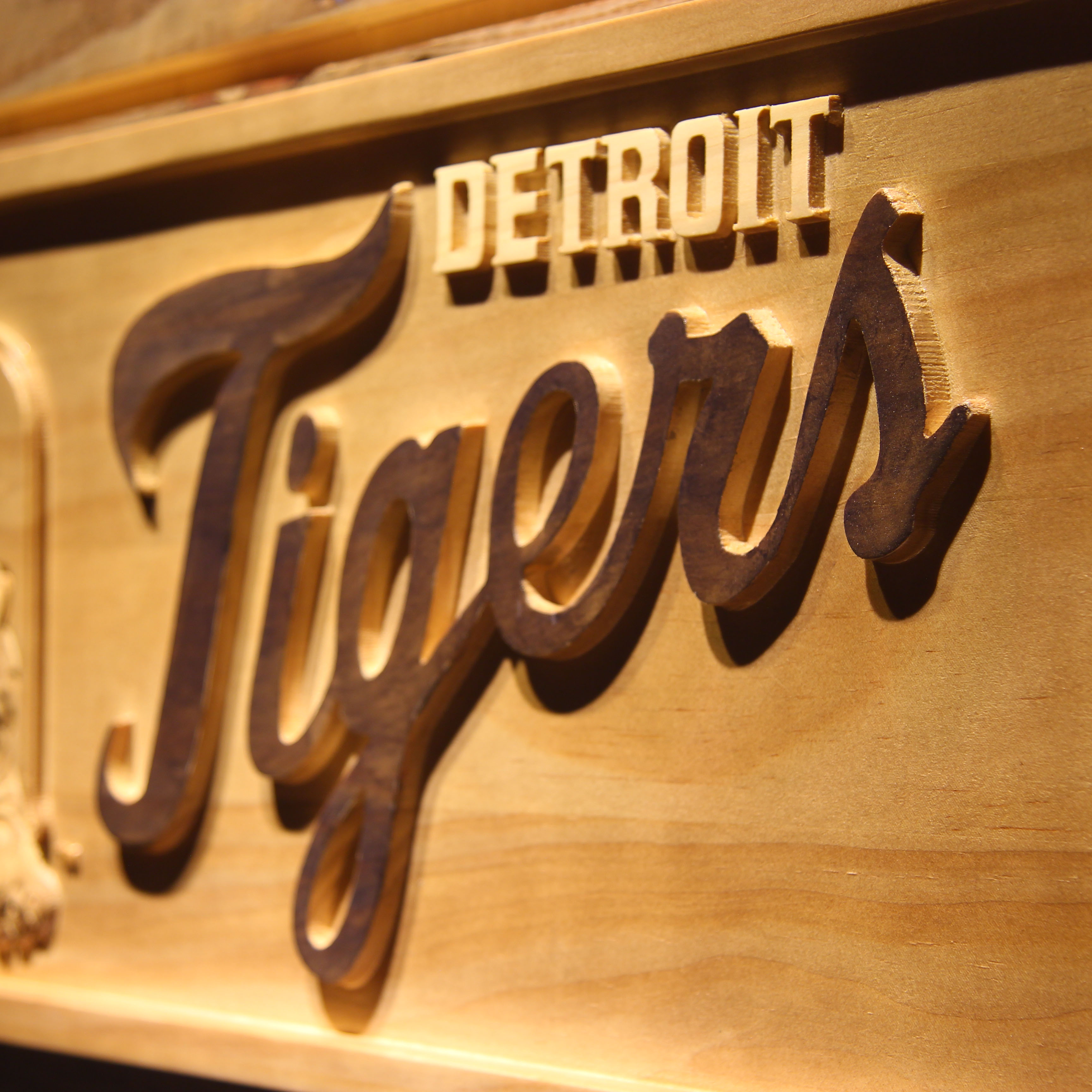 Detroit Tigers 3D Wooden Sign-in Plaques & Signs from Home & Garden ...