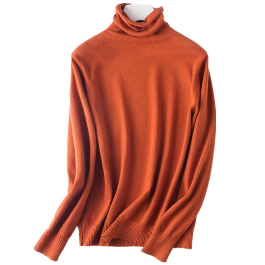 plus size 2XL 2018 autumn winter slim Knitted Turtleneck Sweater women Pullovers bottoming sweater