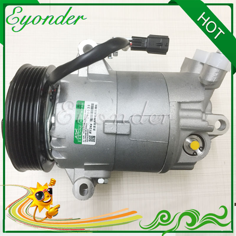 Auto AC Air Conditioning Compressor CVC PV6 for Nissan QashQai J10 JJ 10 DUALIS 2.0 MR20DE 2007 926001DB3A 926001DB0A 92600JD200 ...