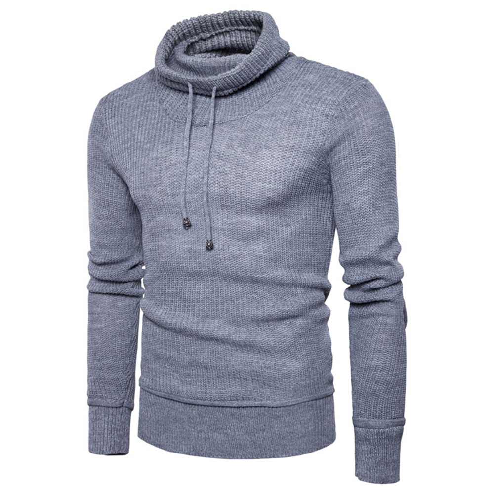 Men Sweater Clothing Coat Streetwear Long-Sleeve Fashion Casual Plus-Size No Tops Spring