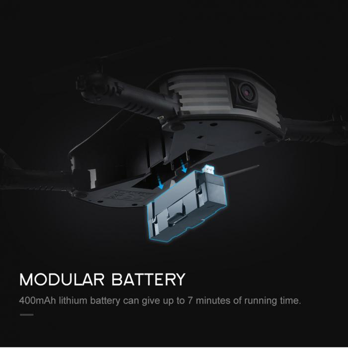 JJRC H37 Mini Elfie 4ch 6-Axis Gyro Foldable Wifi RC Drone Quadcopter with Camera G-sensor RC Helicopter FJ88