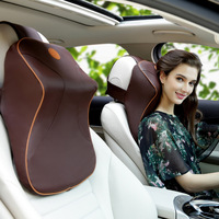 Memory Cotton Vehicle Head Pillow and Neck Pillow Space Slow Springback Vehicle Leather Pillow Pillow Summer Supplies A09