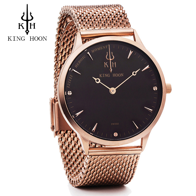 Casual Mens Watches Top Brand Luxury Quartz Watch Men Waterproof Sport Military Watches Men Leather Relogio Masculino KING HOON