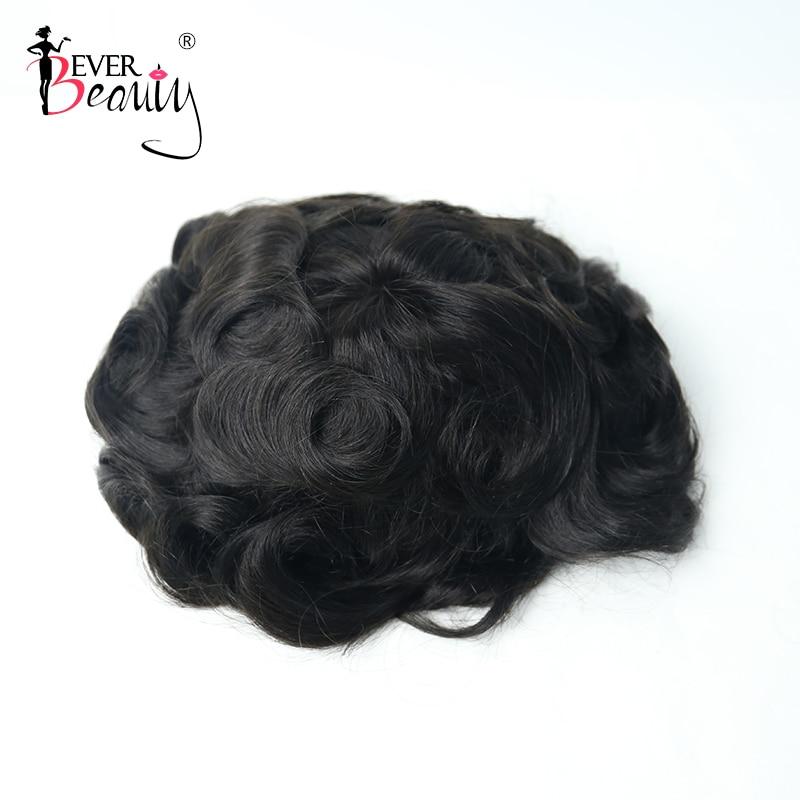 Men Hair Toupee Thin Skin 100% Men Human Hair Toupee For Men Replacement Skin Hair System European Hair Ever Beauty Remy