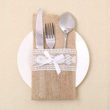 Japanese Style Christmas Sant Christmas hat knife and fork set Table Place Decoration Bags(China)