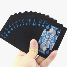 1 PCS New Deck Poker Waterproof Plastic PVC Playing Cards Set Black Color Card Sets Classic Magic Tricks Tool Games