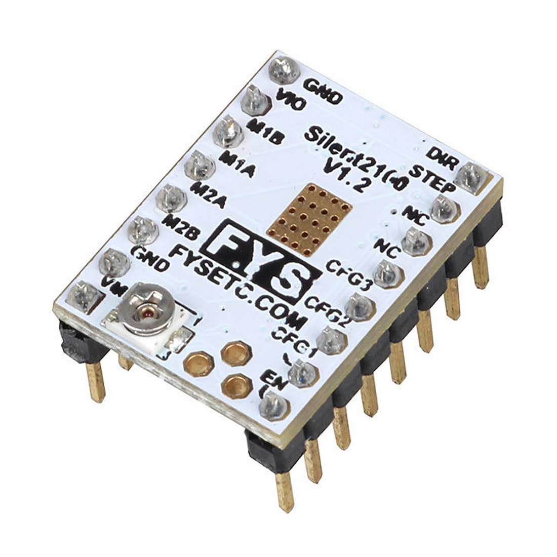 цена на 3D Printer Motor Drive for Anycubic TMC2100 Stepper Motor Driver with free Heat Sink WHITE-SCLL