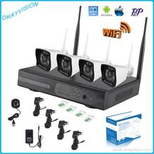 4CH Wireless 960P Wifi Weatherproof P2P KIT With 4CH 720P/960P/1080P NVR WIFI NVR System Surveillance CCTV System Kit WIFI KIT