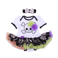 Sale Clearance White Skull Costumes Lace Petti Romper Dresses 1st Birthday Outfits Bebe Jumpsuit Newborn Baby