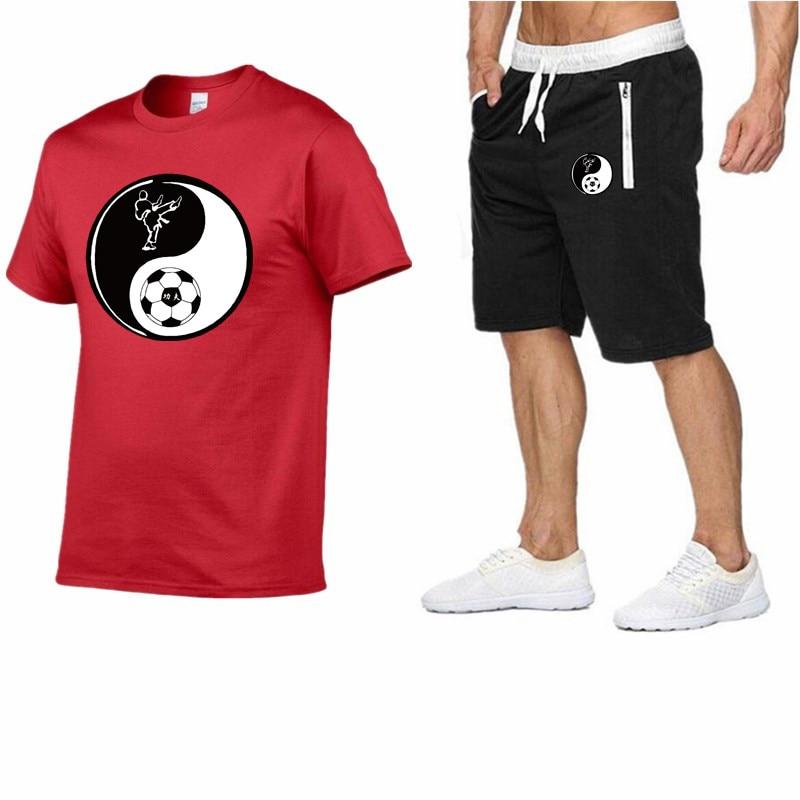 Men's Fashion Two-piece T-shirt + Shorts Suit Men's Summer Shirt T-shirt Fashion T-shirt High-quality Men's Hoodie Sweatshirt