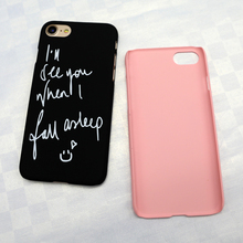 Fashion Letter Couples Phone Case for Apple Iphone 5 5S SE 6 6S 7 8 Plus X