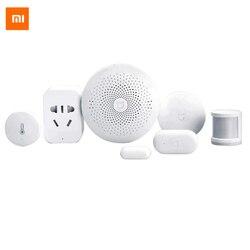 Оригинальный Xiaomi умный дом Комплект шлюз двери окна датчик человеческого тела датчик беспроводной переключатель многофункциональные умны...
