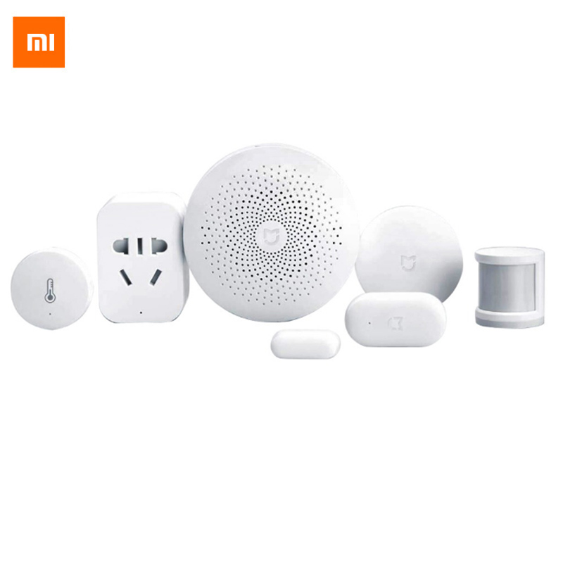 Original Xiaomi Smart Home Kit Gateway Puerta Ventana Sensor Sensor Cuerpo humano Interruptor inalámbrico Multifuncional Dispositivos inteligentes Suite