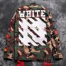 2016 new Fashion dg white off 14ss badge 13 Camouflage m65 multi-pocket men women jacket outerwear