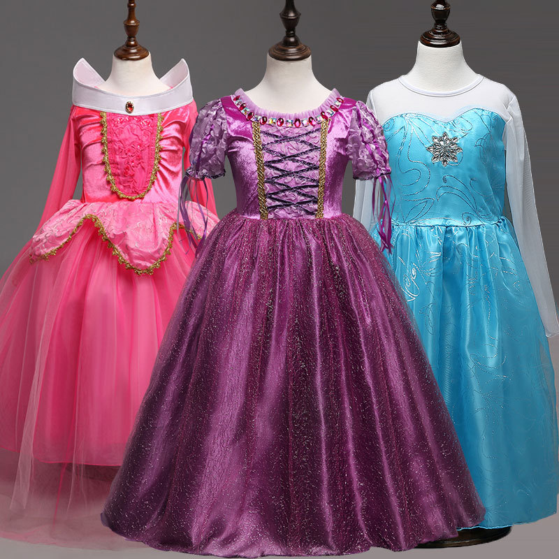 2018 Infant Princess Dress for Girl Wear Halloween New year Christmas party Costume Girls Clothes Fancy Dresses Party Teenage