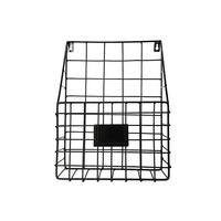 1PC Metal Basket Wall mounted Nordic INS Rack Newspaper Magazine File Book Shelf Storage Container Holder Rack Display Stand