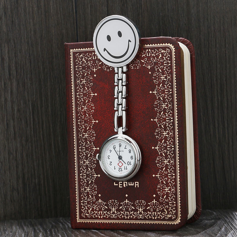 1pc Pocket Medical Nurse Fob Watch Women Dress Watches Clip-on Pendant Hanging Quartz Clock Relogio P231