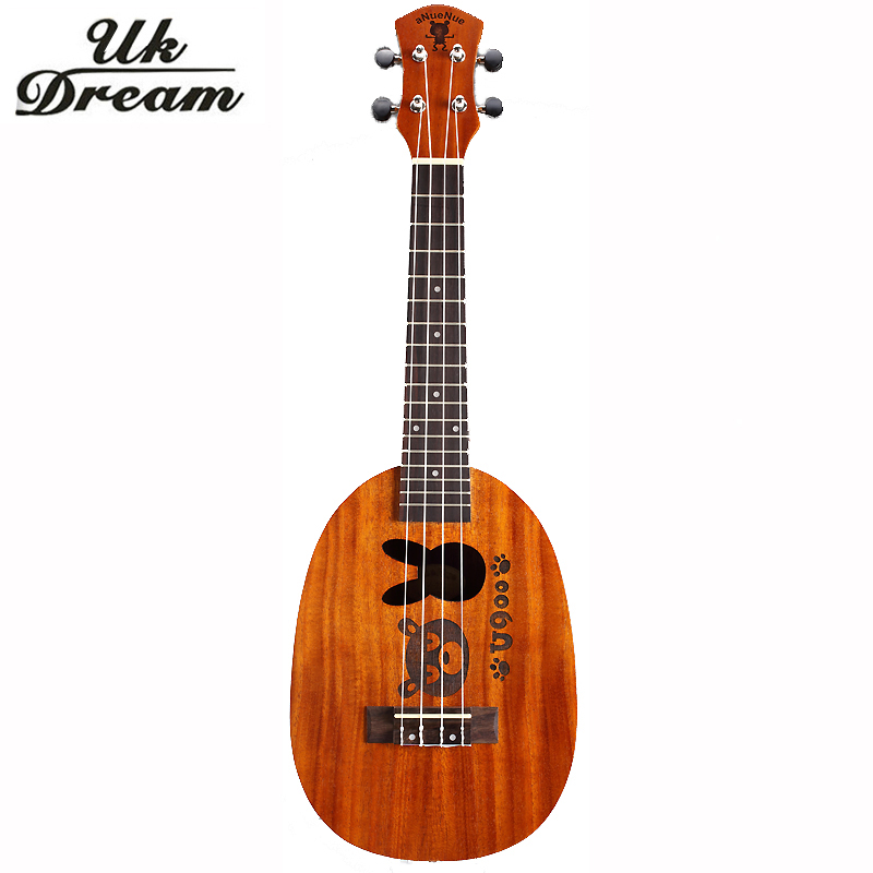 23 Inch Wooden Guitar Ukulele Couple Models Mahogany Mini Hawaii Small Guitar 4 Strings Guitars Pineapple Barrel Ukulele UC-BOTU ukulele 23 inch four string small guitar hawaii travel little guitar mahogany child guitar