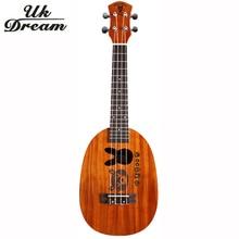 23 Inch Wooden Guitar Ukulele Couple Models Mahogany Mini Hawaii Small 4 Strings Guitars Pineapple Barrel UC-BOTU