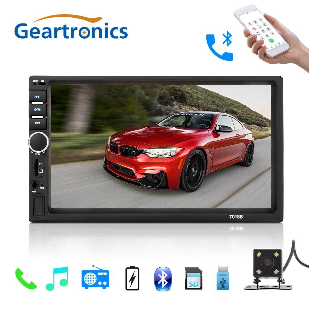 Autoradio 2 Din général voiture modèles 7 ''pouces LCD écran tactile lecteur Autoradio Bluetooth voiture Support Audio caméra de recul 7018B