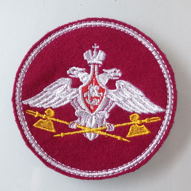 Russian Medical Military Armband Patches Embroidery Purple Patches for Clothing Badge Army Appliques