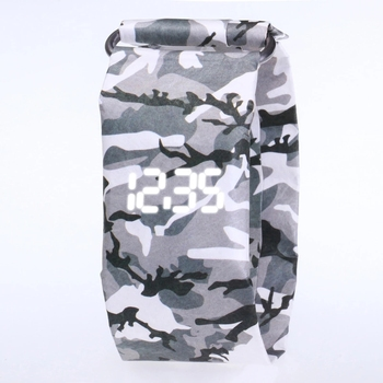 2020 Trendy DIGITAL LED Watch Paper Water/Tear Resistant Watch Perfect Gift 13 4