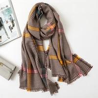 Winter Warm Plaid Pashmina Classics Scarf for Female Soft Elegant Designer Large Blanket Wrap Poncho Cape Shawl NEW [3315]